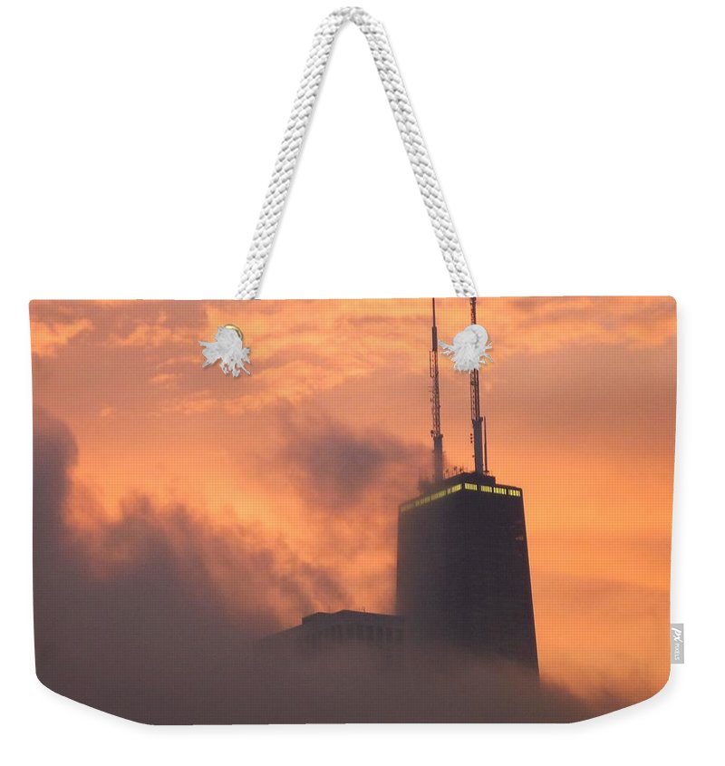 Chicago Weekender Tote Bag featuring the photograph Chicago Dusk by Valentino Visentini
