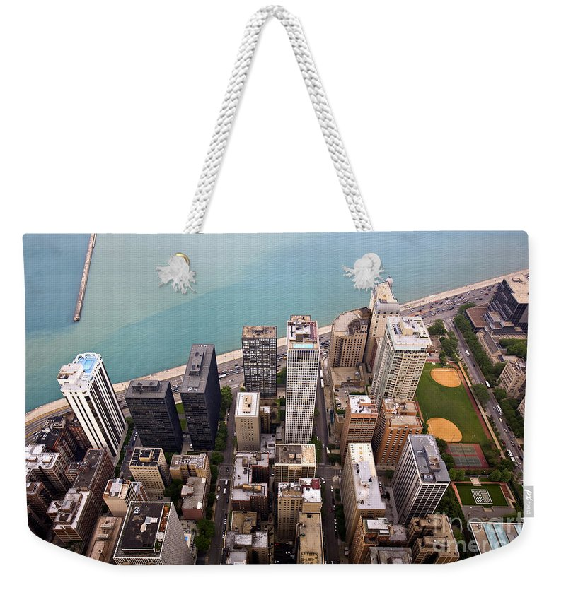 Chicago Weekender Tote Bag featuring the photograph Chicago From Above 2 by Madeline Ellis
