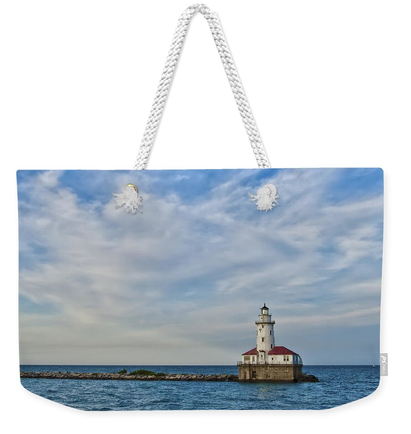 Lighthouse Weekender Tote Bag featuring the photograph Chicago Lighthouse by Scott Wood