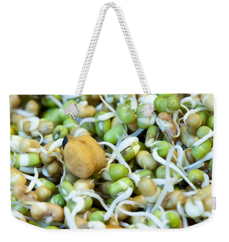 Health Weekender Tote Bag featuring the photograph Chickpea And Other Lentils In The Form Of Healthy Eatable Sprouts by Ashish Agarwal