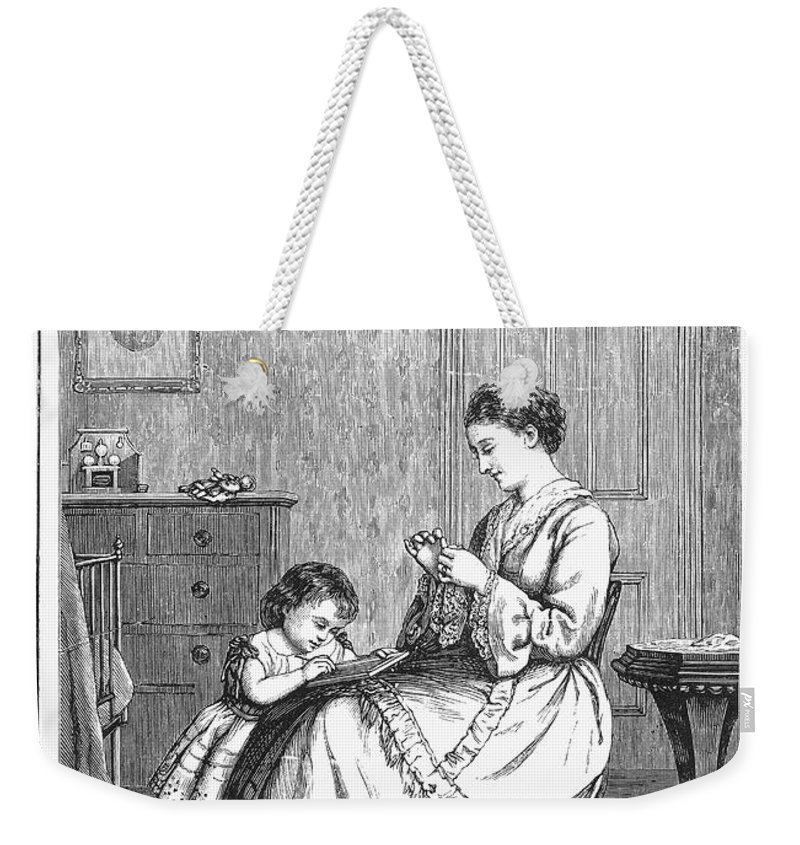 1885 Weekender Tote Bag featuring the photograph Childrens Magazine, C1885 by Granger