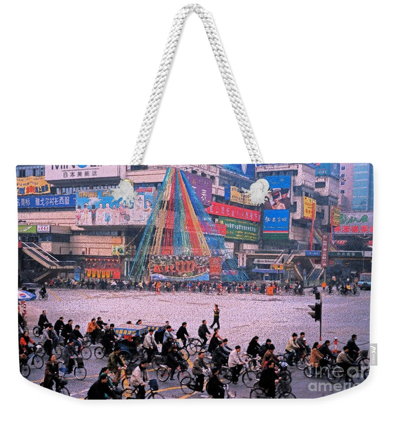 Weekender Tote Bag featuring the photograph China Chengdu Morning by First Star Art