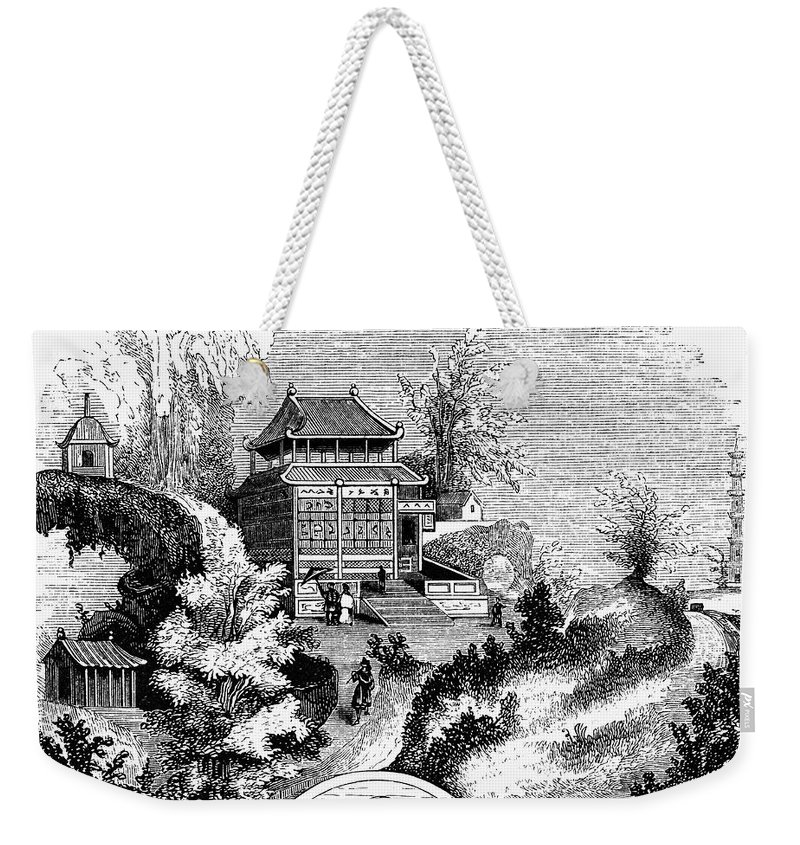 1853 Weekender Tote Bag featuring the photograph China: Imperial Palace by Granger