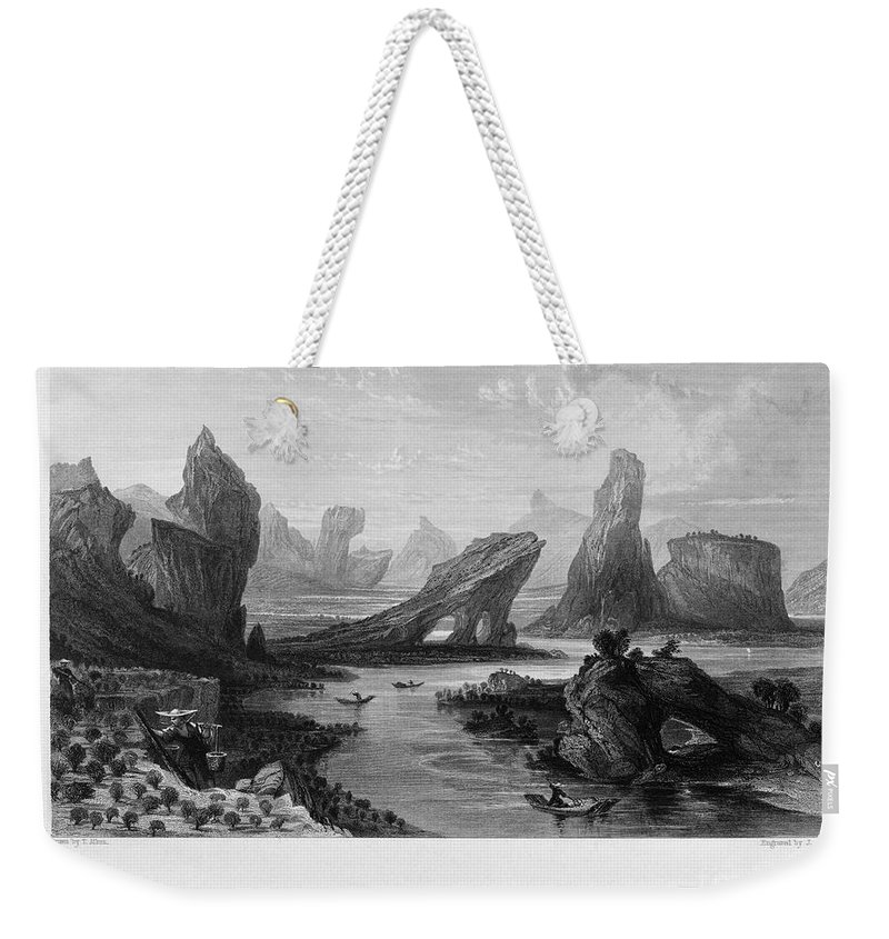 1843 Weekender Tote Bag featuring the photograph China: Wuyi Shan, 1843 by Granger