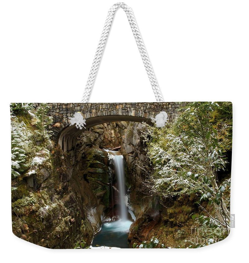 Christine Falls Weekender Tote Bag featuring the photograph Christine Under The Bridge by Adam Jewell