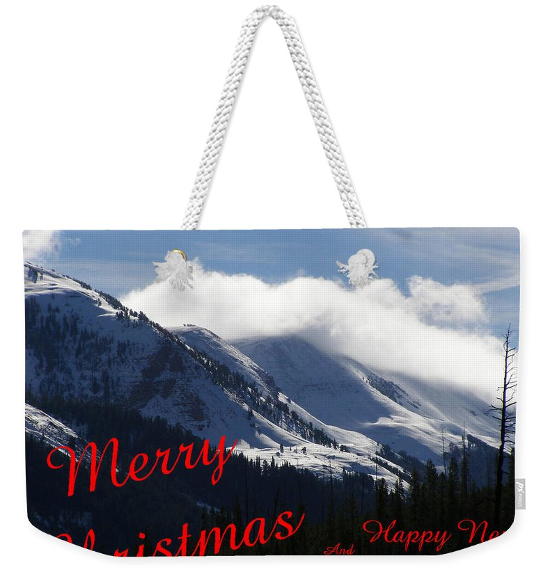 17 - 29 Oct 09christmas Weekender Tote Bag featuring the photograph Christmas In The Mountains by DeeLon Merritt