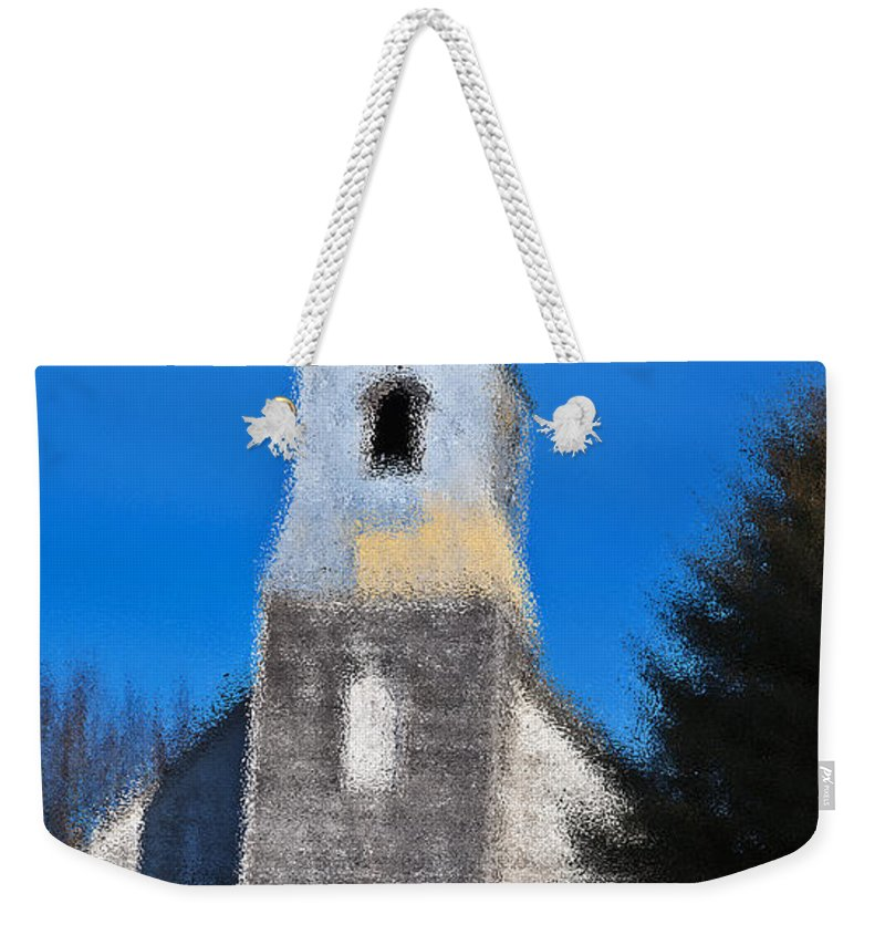 Church Weekender Tote Bag featuring the photograph Church Of Days Gone By by Edward Peterson