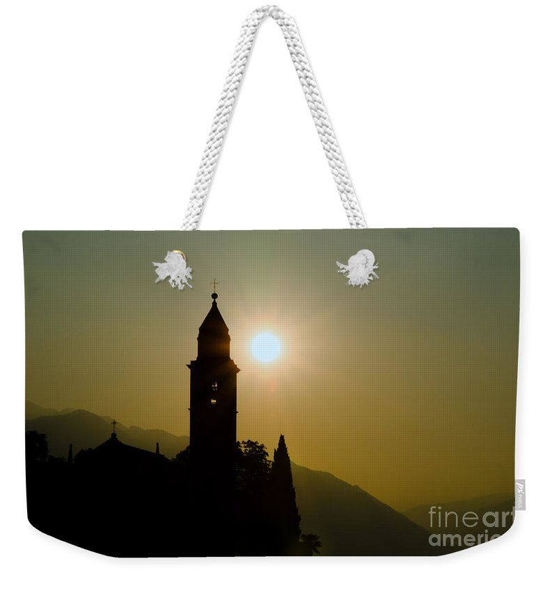 Tower Weekender Tote Bag featuring the photograph Church Tower by Mats Silvan