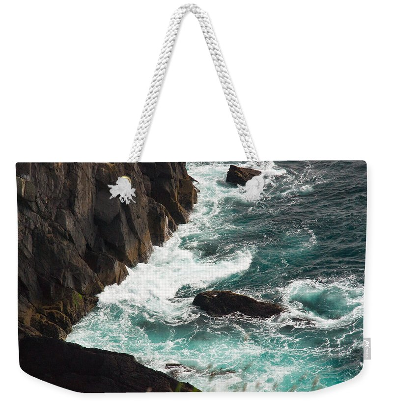 Churning Weekender Tote Bag featuring the photograph Churning Ocean by Douglas Barnett