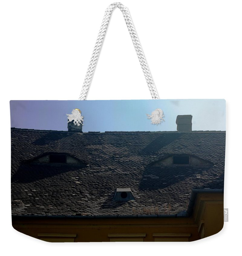 Old Town Weekender Tote Bag featuring the photograph City eyes by Amalia Suruceanu