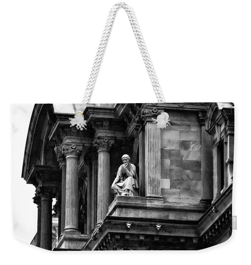 City Hall Edifice - Philadelphia Weekender Tote Bag featuring the photograph City Hall Edifice - Philadelphia by Bill Cannon