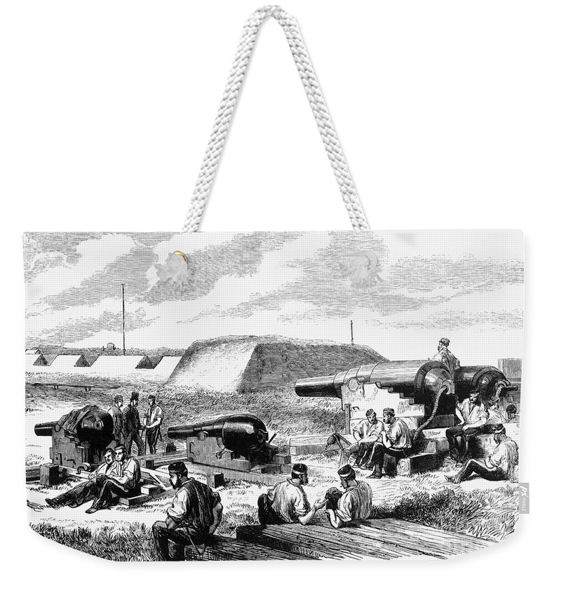 19th Century Weekender Tote Bag featuring the photograph Civil War Battery Scene by Granger