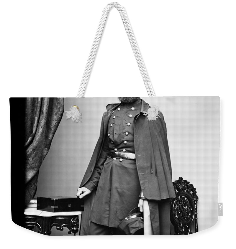 1863 Weekender Tote Bag featuring the photograph Civil War: Paymaster by Granger