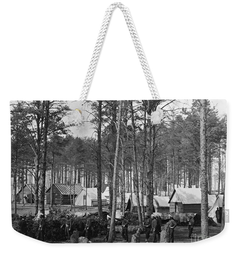 1864 Weekender Tote Bag featuring the photograph Civil War: Union Camp, 1864 by Granger