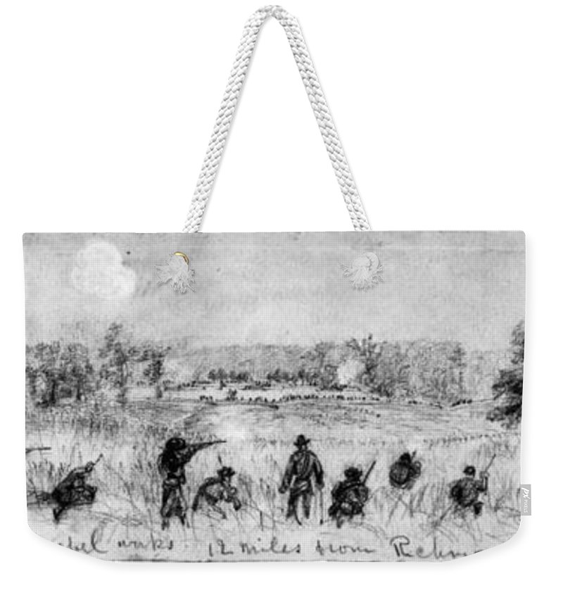 1863 Weekender Tote Bag featuring the photograph Civil War: Union Troops by Granger