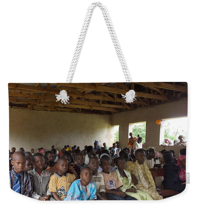 School Weekender Tote Bag featuring the photograph Classmates by Amy Hosp