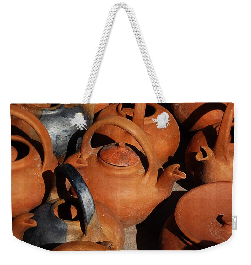 Still Life Weekender Tote Bag featuring the photograph Clay Factory In Argentina by Xueling Zou