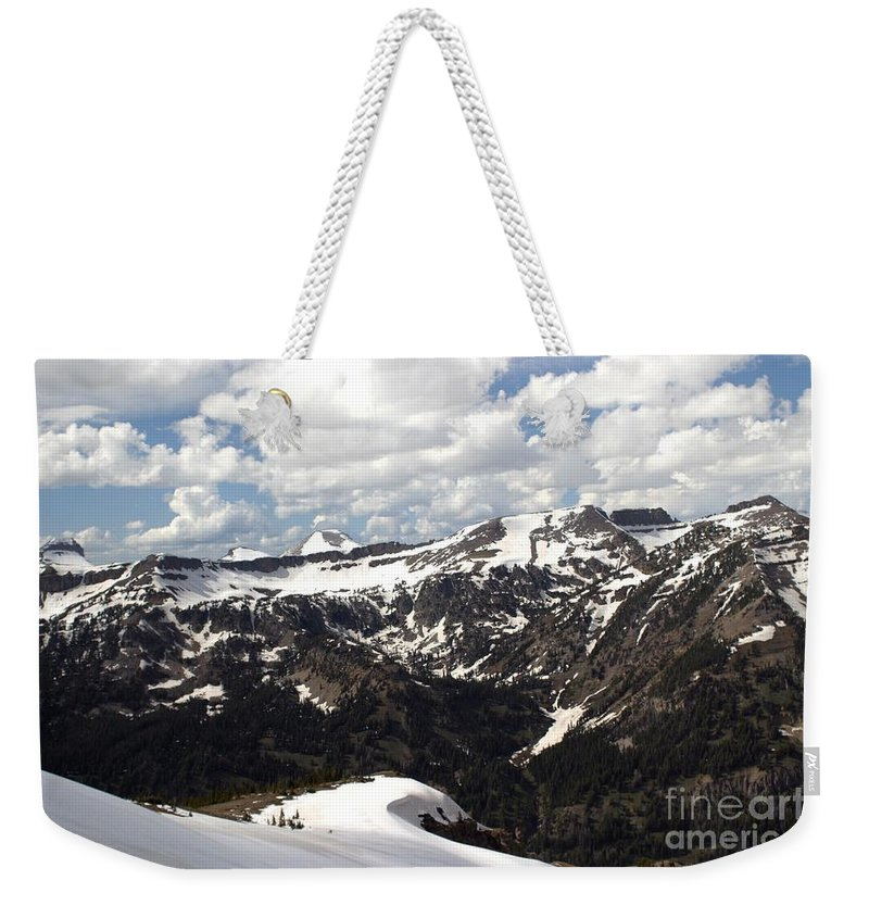 Rendezvous Mountain Weekender Tote Bag featuring the photograph Clear Day On Rendezvous Mountain by Living Color Photography Lorraine Lynch