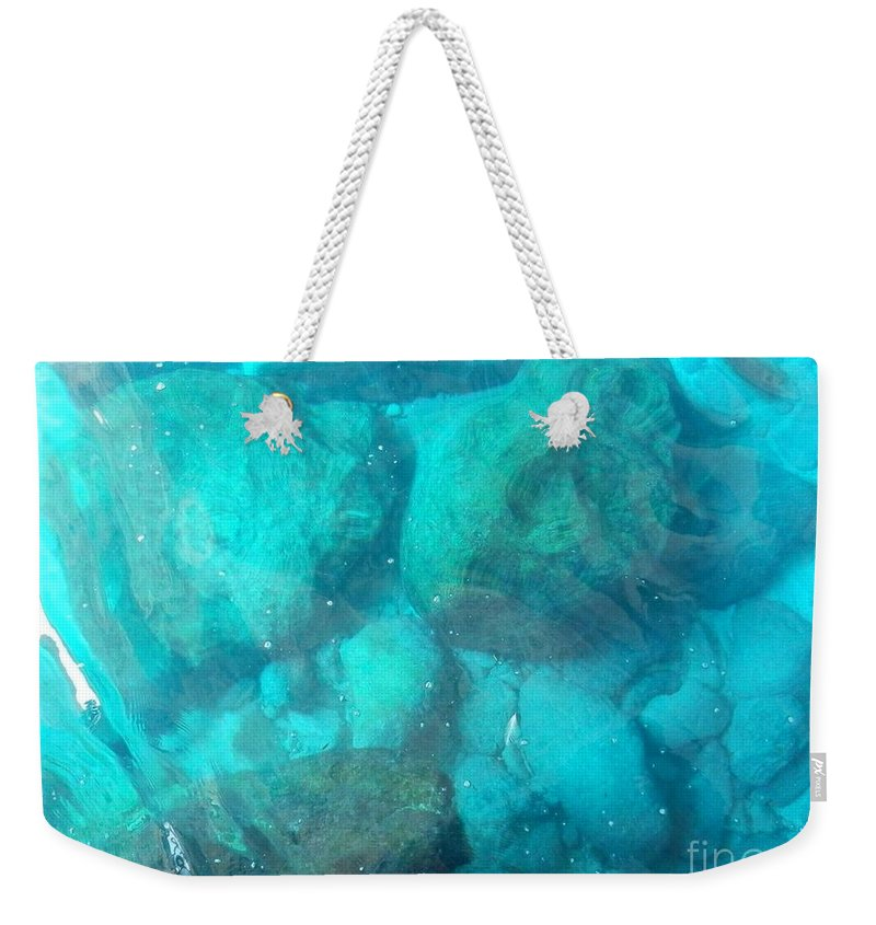 Zakynthos Weekender Tote Bag featuring the photograph Clear Water 3 Ionian Sea Series by Ana Maria Edulescu