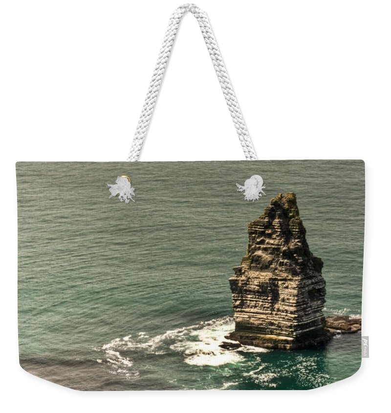 Cliffs Weekender Tote Bag featuring the photograph Cliff Of Moher 17 by Douglas Barnett