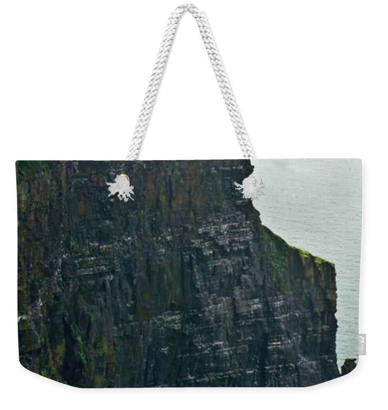 Cliffs Weekender Tote Bag featuring the photograph Cliff Of Moher 19 by Douglas Barnett