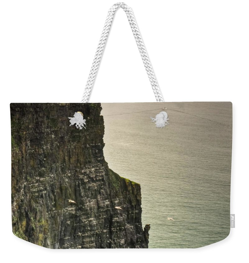 Cliffs Weekender Tote Bag featuring the photograph Cliff Of Moher 20 by Douglas Barnett