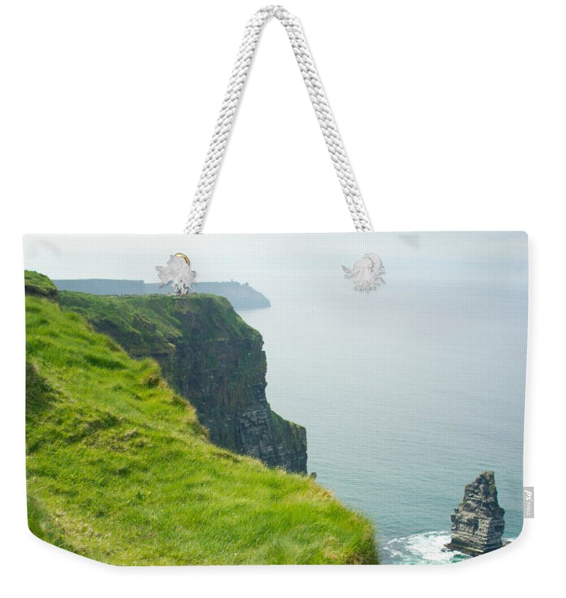 Cliffs Weekender Tote Bag featuring the photograph Cliff Of Moher 24 by Douglas Barnett