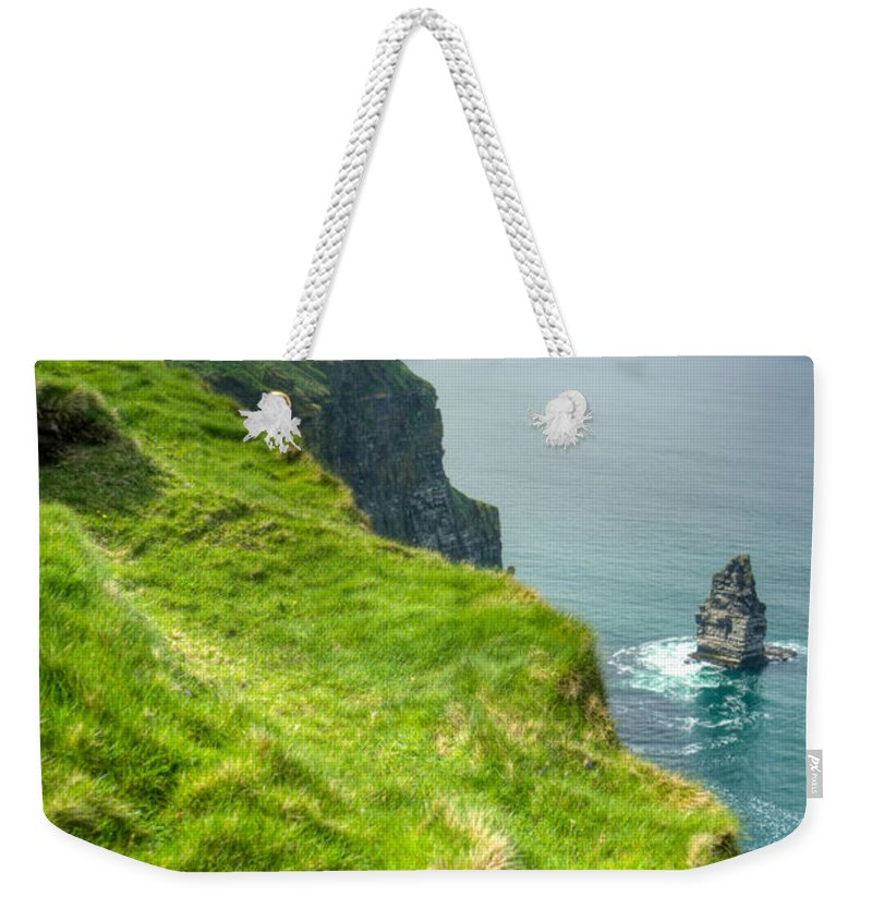 Cliffs Weekender Tote Bag featuring the photograph Cliff Of Moher 25 by Douglas Barnett