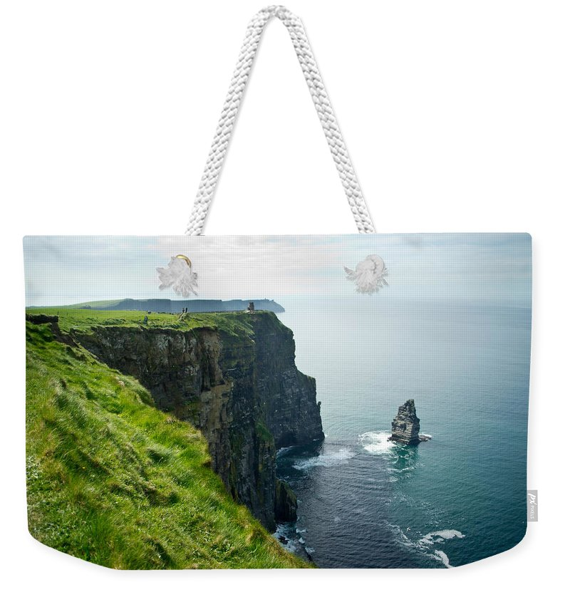 Cliffs Weekender Tote Bag featuring the photograph Cliff Of Moher 28 by Douglas Barnett