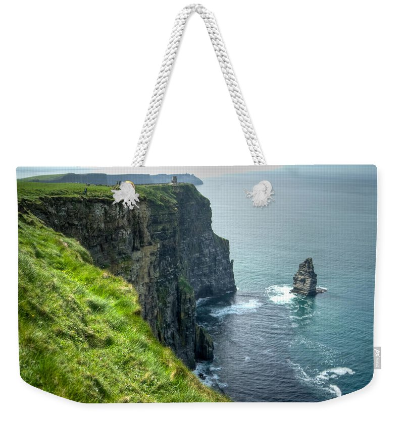 Cliffs Weekender Tote Bag featuring the photograph Cliff Of Moher 29 by Douglas Barnett