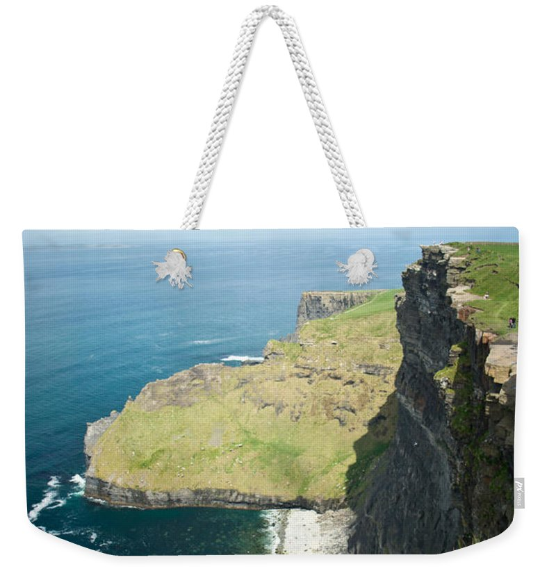 Cliffs Weekender Tote Bag featuring the photograph Cliff Of Moher 30 by Douglas Barnett