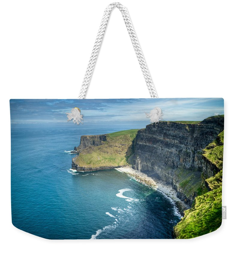Cliffs Weekender Tote Bag featuring the photograph Cliff Of Moher 32 by Douglas Barnett