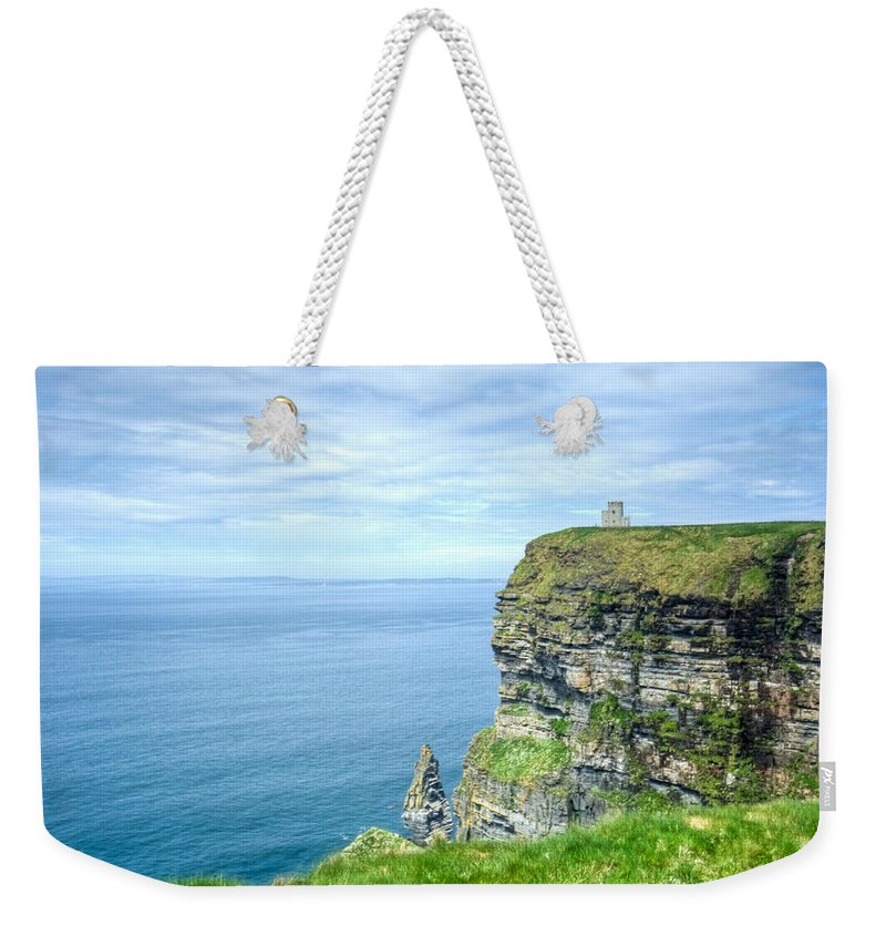 Cliffs Weekender Tote Bag featuring the photograph Cliff Of Moher 34 by Douglas Barnett
