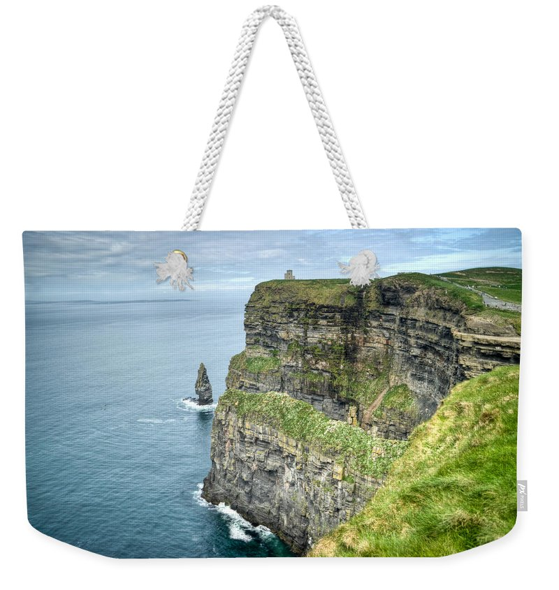 Cliffs Weekender Tote Bag featuring the photograph Cliff Of Moher 35 by Douglas Barnett