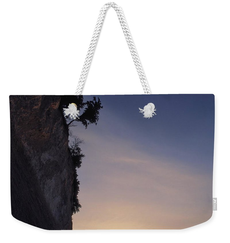 Europe Weekender Tote Bag featuring the photograph Cliff Silhouette At Sunset, Jasmund by Norbert Rosing