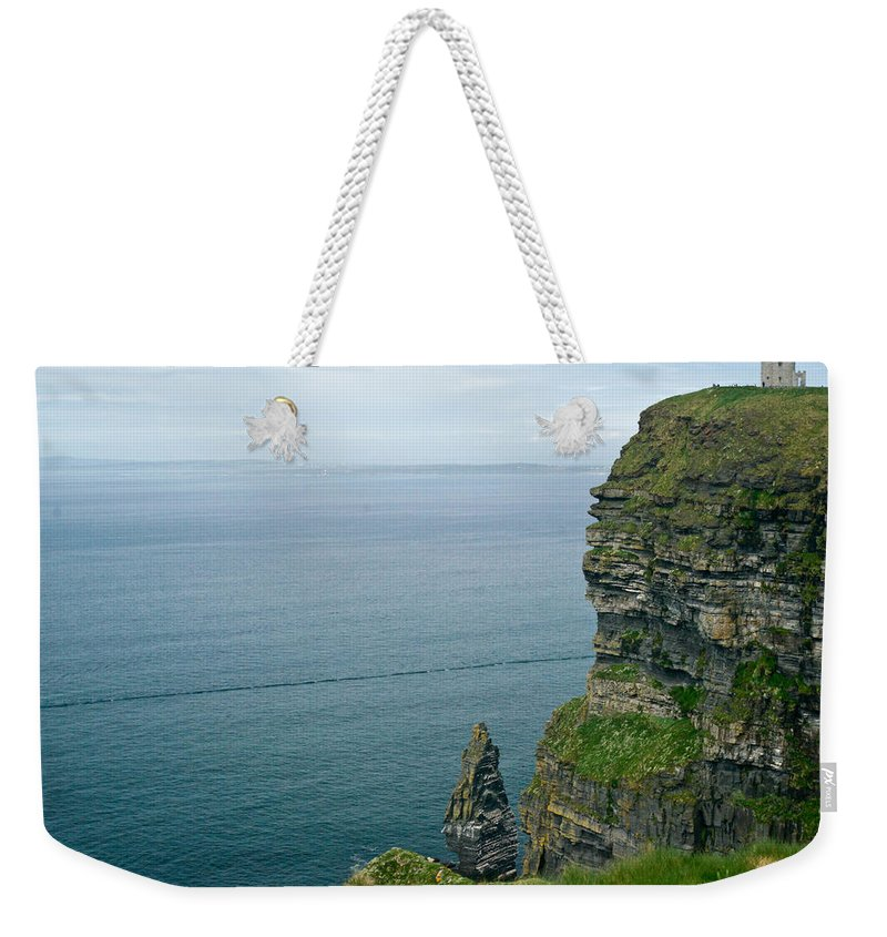 Cliffs Weekender Tote Bag featuring the photograph cliffs of Moher 36 by Douglas Barnett