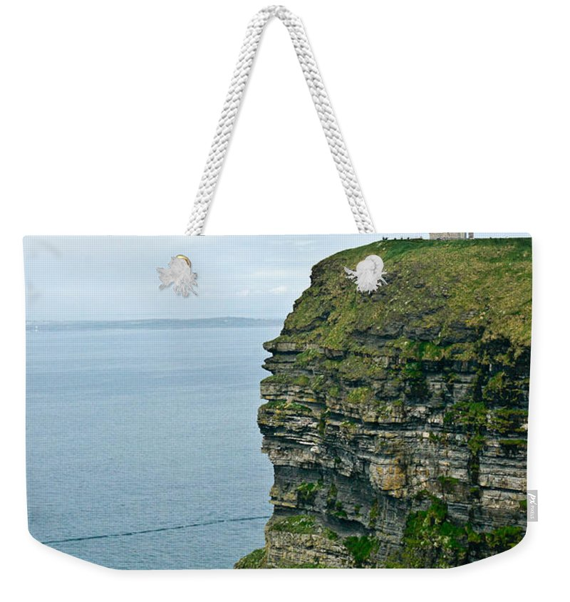 Cliffs Weekender Tote Bag featuring the photograph cliffs of Moher 37 by Douglas Barnett