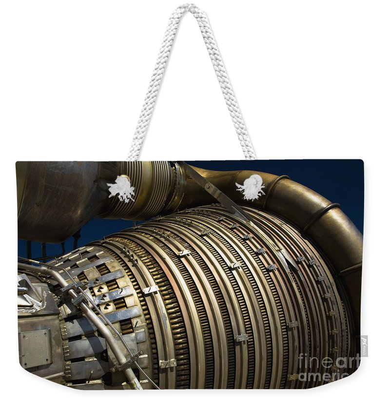 Rockets Weekender Tote Bag featuring the photograph Close-up View Of A Rocket Engine by Roth Ritter