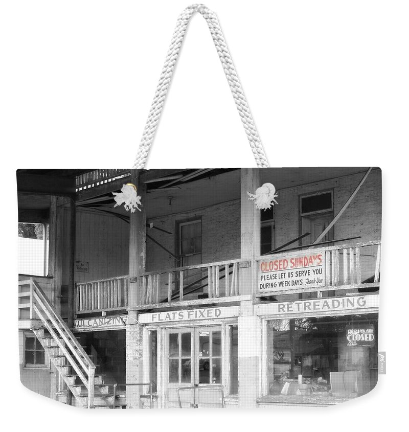 Color Splash Weekender Tote Bag featuring the photograph Closed Sundays by Michele Nelson