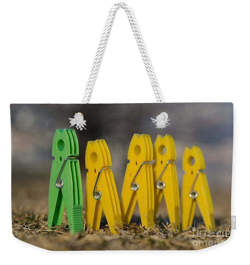 Clothespin Weekender Tote Bag featuring the photograph Clothespin by Mats Silvan