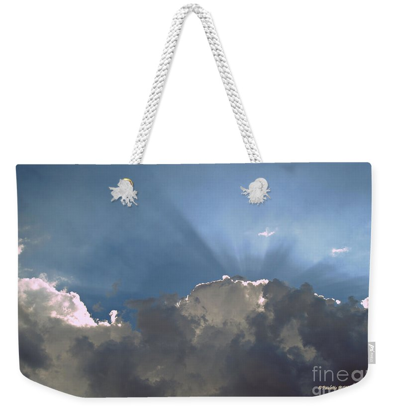 Clouds Weekender Tote Bag featuring the photograph Clouds-12 by Paulette B Wright