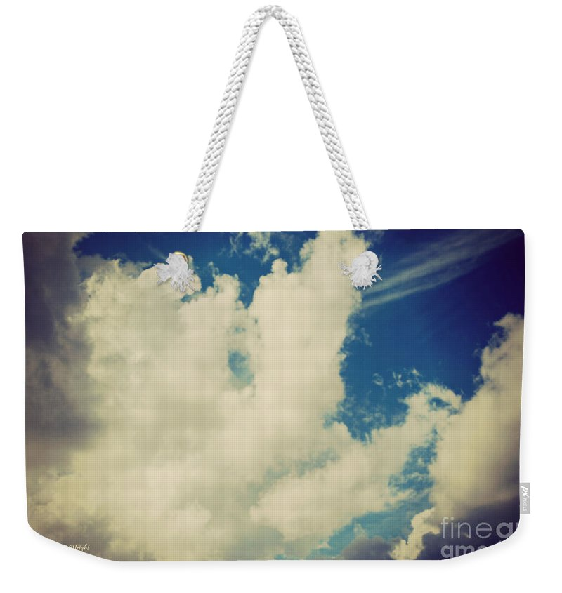 Drama Queen Weekender Tote Bag featuring the photograph Clouds-7 by Paulette B Wright