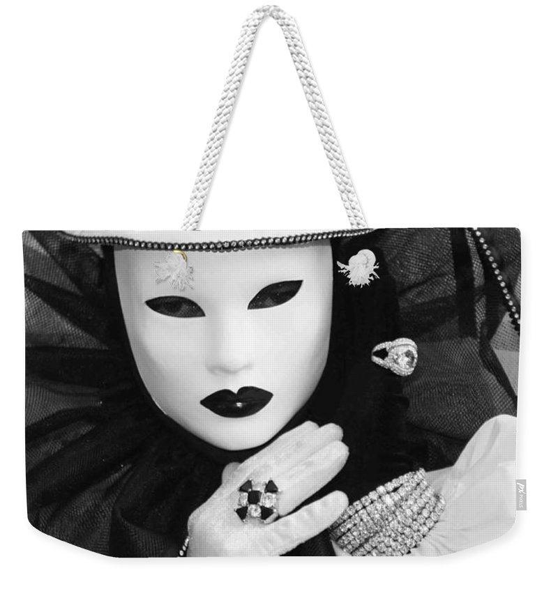 Venice Weekender Tote Bag featuring the photograph Clown Of Diamonds by Donna Corless