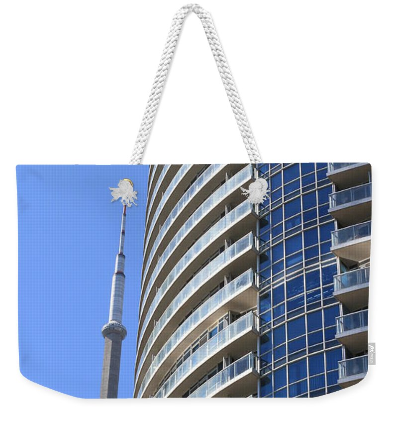 Tower Weekender Tote Bag featuring the photograph Cn Tower by Valentino Visentini