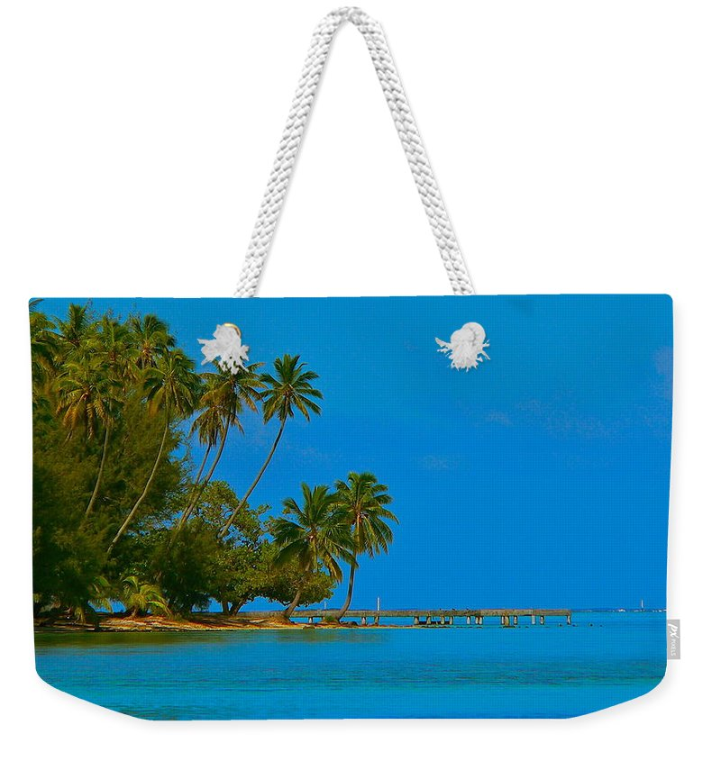 French Polynesia Weekender Tote Bag featuring the photograph Coconuts Anyone by Eric Tressler