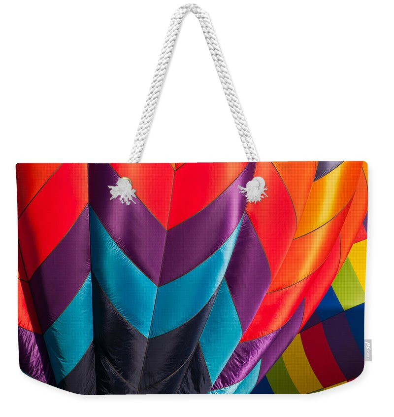 Hot Weekender Tote Bag featuring the photograph Color Wheel by Colleen Coccia