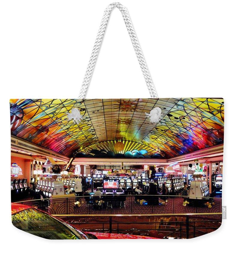Colorado Weekender Tote Bag featuring the digital art Colorado Casino by Barkley Simpson