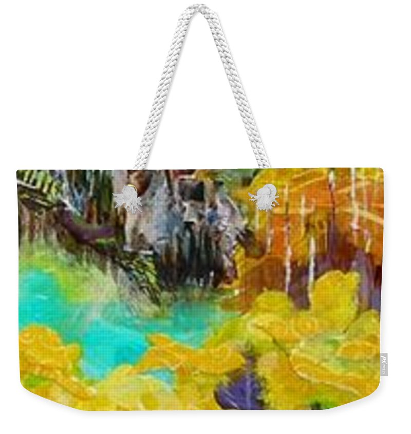 Colorado Landscape Weekender Tote Bag featuring the painting Colorado Layers by Saundra Lane Galloway