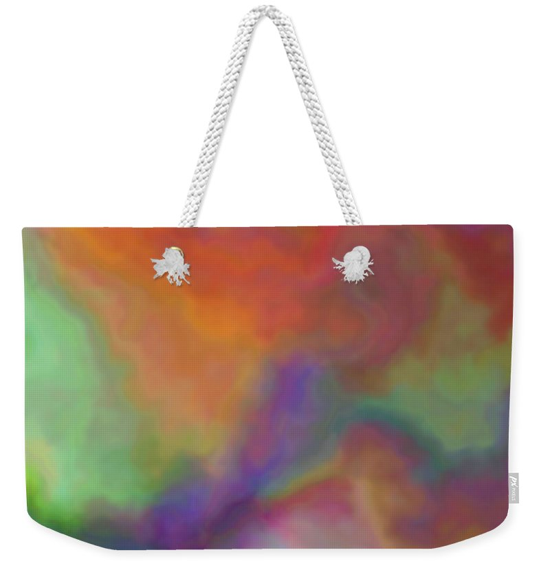 Colorful Dreams Abstract Weekender Tote Bag featuring the digital art Colorful Dreams Abstract by Christy Leigh