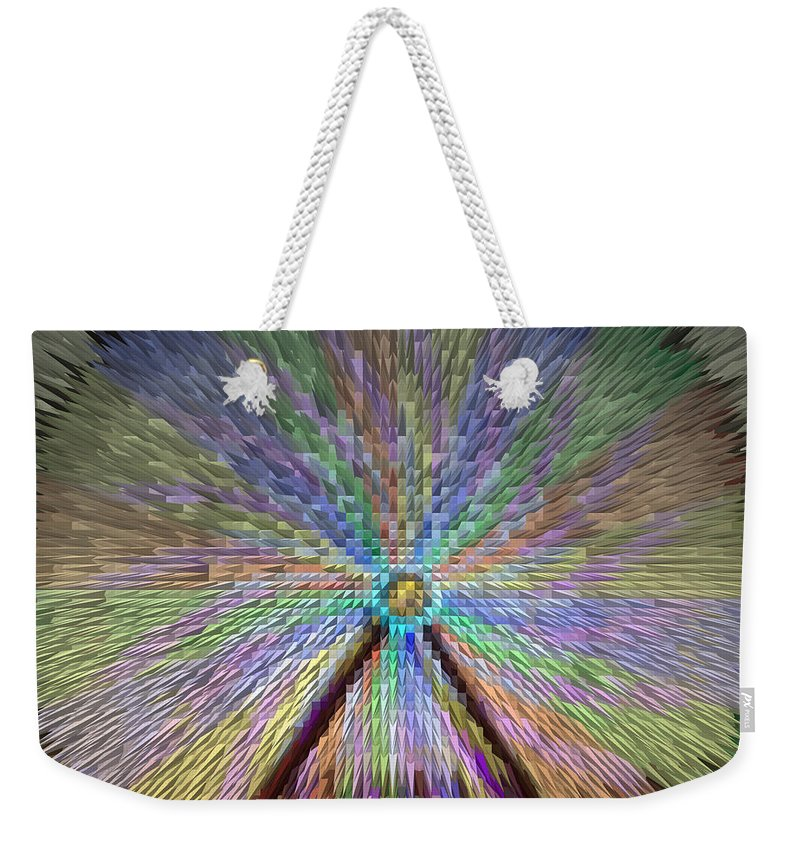 Extrude Weekender Tote Bag featuring the photograph Colorful Fair Wheel by Donna Brown